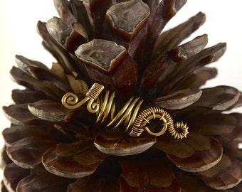 Handmade Antique Bronze Coloured Dreadlock Jewellery Dreadlock Accessories Dread Beads dreadlock jewelry
