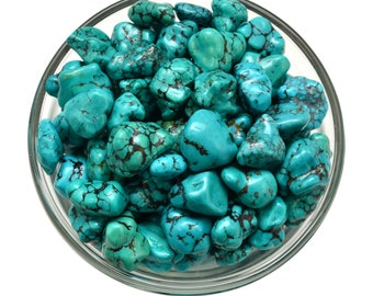 1 Genuine TURQUOISE Nugget Tumbled Stone Healing Crystals and Stone Jewelry & Craft Supplies #TN01