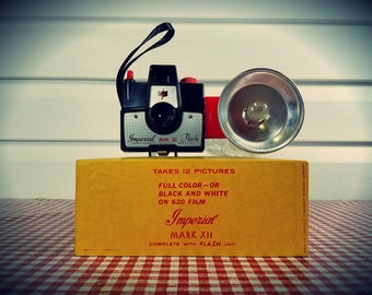 Vintage 1960s Imperial Mark XII Camera WITH Original Boxm Manual, and Flash, Ready to Shoot ...