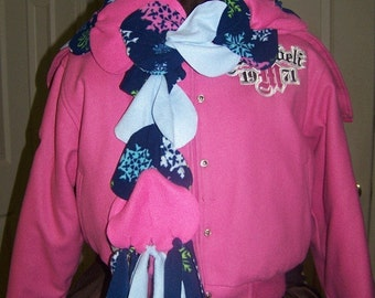 Easy Fleece scarf  Pattern 2 sizes Great for beginners no sewing required with instant download
