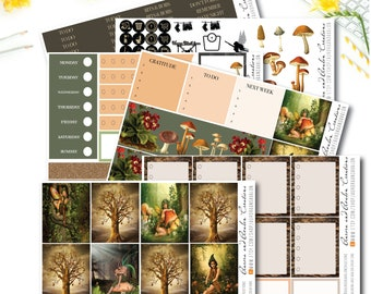 Woodland Fairies weekly kit for EC, Happy Planner and Big HP
