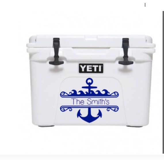 Anchor decal last name decal last name yeti cooler decal