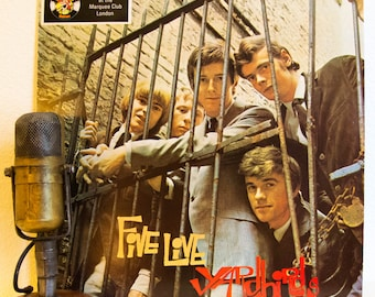 """The Yardbirds (with Eric Clapton) LIVE Vinyl Record Album Lp 1960s British Blues Rock """"Five Live Yardbirds (Live)"""" (1979 Charly re-issue)"""