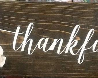 Thankful sign -small