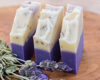Rustic Lavender Soap / Handmade Soap / Fremantle, Western Australia / Palm Oil Free / Traditional Cold Process Soap / Natural Skin Care