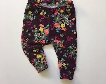 Floral Bouquet Leggings, baby leggings, toddler leggings, toddler pants,