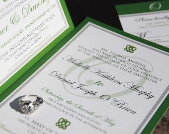 Elegant Irish Wedding Invitation,Celtic Knot wedding invitations,Celtic weding invitation,celtic knot,celtic calligraphy,irish wedding