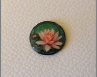 "Magnet ""Lotus rose"" - resin Cabochon"