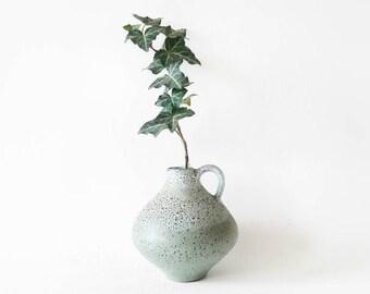 Vintage Vase with Handle by East German Römhild Töpferhof Keramik in Green Small Size
