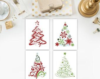 christmas printable art christmas tree print red and green christmas art christmas tree holiday art xmas printable xmas art christmas decor