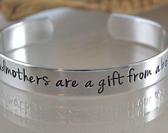 Godmother Gift - Godmother Bracelet - Godmother Jewelry - Christening Gift - Baptism Gifts by PinkLemonDesign