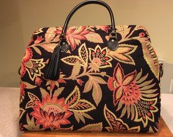 Carpet bag, Mary Poppins bag, Overnight bag, Carpet bag luggage, Travel bag, Carry-on bag