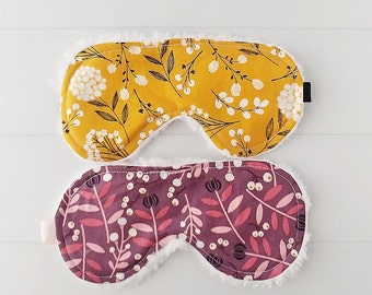 Sleep Masks - Mustard Yellow - Sleeping Mask - Back to School - Eye Mask - Accessories  - Flower Sleep Mask - Teacher Gifts