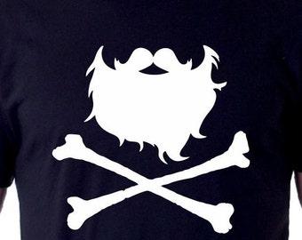 Pirate Beard and Crossbones Shirt
