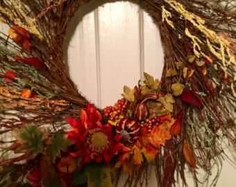 Twiggy Fall Wreath