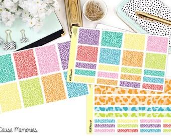 LEOPARD lumineux KIT papier Planner Stickers!
