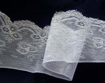 Antique Wide Victorian Lace Edging White FRENCH HEIRLOOM
