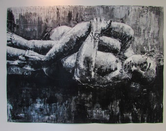 "B&W Painting ""Disconsolation"""