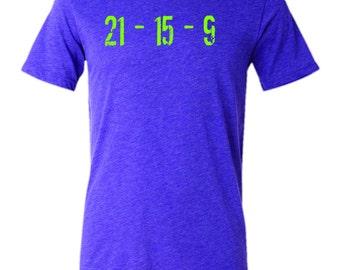 21-15-9 Purple Triblend Short Sleeve T-Shirt