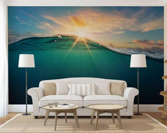 Wall Mural Wave, Sunset Wall Mural, Wall Mural Underwater, Wall Mural Tropical