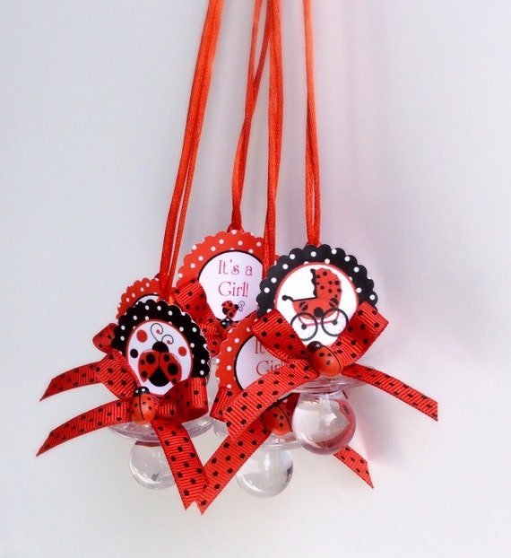 Awesome 12 Lady Bug Baby Shower Pacifiers Lady Bug Baby Shower