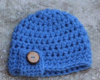 Baby hat, Baby boy hat, Newborn photo prop, newborn hat, baby hat for boys, baby shower gift, baby shower, boy hat, crochet chunky baby hat
