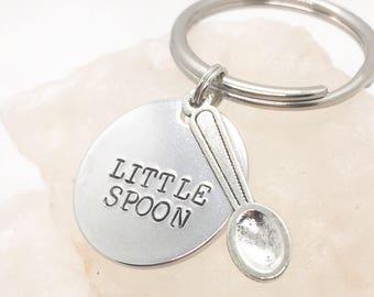 Little Spoon Key Chain, Anniversary Gift, Birthday Gift, Gift for Boyfriend, Gift for Girlfriend, Big Spoon Little Spoon, Spooning