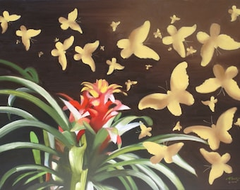 Butterflies 11x17 print by artist RUSTY RUST / B-105-P