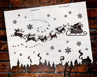Sleigh Ride Stencil - Select Size - SKU:STCL134