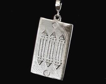 Atlantis 925 Solid Sterling Silver Talisman Prosperity Healing Pendant