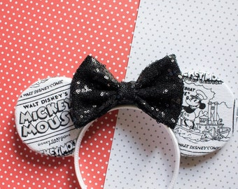 Steamboat Willie Inspired Mouse Ears