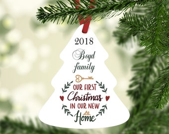 Our First Christmas, 2018 Ornament, New Home Ornament, Mr and Mrs, Newlywed Ornament, Personalized Ornament, Gift for Newlywed, Just Married