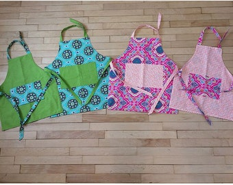 Apron -- Cooking, Crafting, Imaginative Play, or Dress Up -- Toddler, Child, and Adult Sizes -- Custom Designs Available