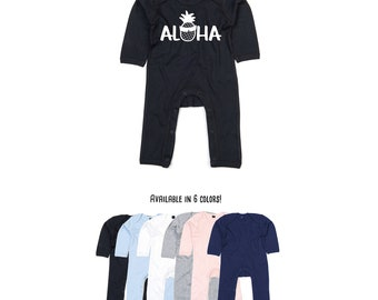 Aloha romper, baby romper, pineapple romper, aloha pineapple romper, surfer romper, summer romper, baby summer clothes, beach romper