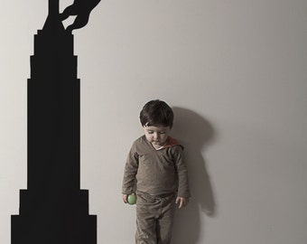 Vinyl Wall Decal Sticker King Kong on Empire State Building 1160s