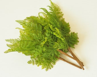 UV Protected Lace Fern Artificial Bush Indoor greenery (Each bush 7 stems), Home Décor,Flower arrangement faux Greenery