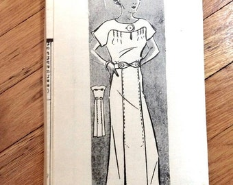 Spring Sale 1930s Dress Pattern Anne Adams 2322 Vintage Sewing Pattern  Bust 40 inches