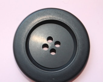 SET of 7 large 30mm gray buttons