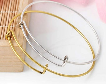 DOLLAR STORE Expandable Silver Bangle Bracelet