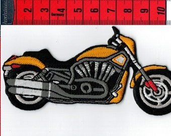 Iron or sew motorcycle Biker yellow coat. Patch applique