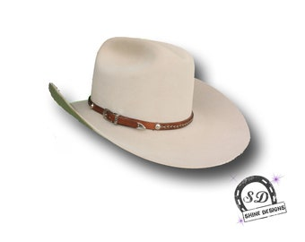 Western Leather and Horse Hair Hatband