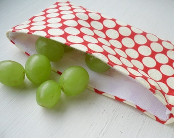 DIY ePattern Tutorial for Reusable Snack and Sandwich Bags - Great for School, Work, Picnics - Two Sizes Included in Pattern