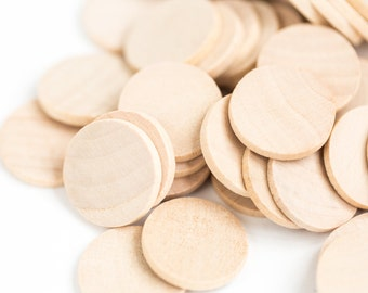 25 Wood Circles, Wooden Discs - 1 1/2 inch x 1/8 inch Unfinished| Wooden Discs| Wood Discs| Unfinished wood| Wooden Discs| Waldorf Coins