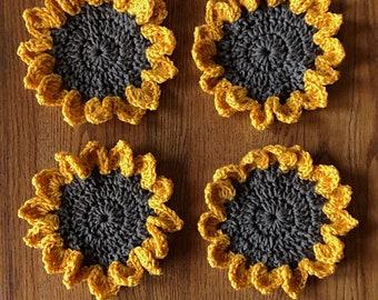 Sunflower Coasters - Set of 4
