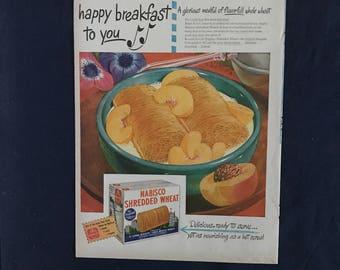 Vintage Nabisco Shredded Wheat Ad