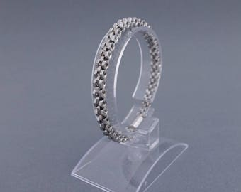 Bracelet of nuts - stainless steel with magnetic clasp