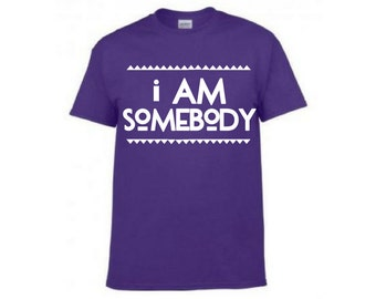 I AM SOMEBODY - purple adult