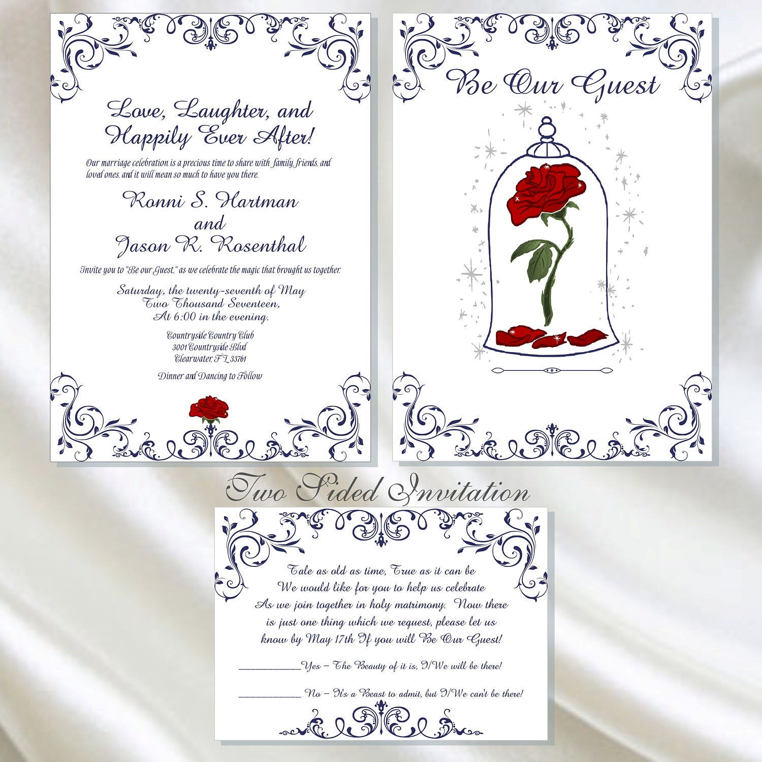 Printable Enchanted Rose Beauty And The Beast Wedding