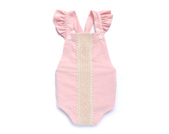 Cake Smash Outfit Girl 1st Birthday Girl Outfit 1st Birthday Romper Baby Girl Romper Birthday Romper Baby Girl Sunsuit Pink First Birthday