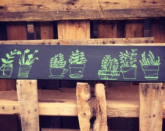 Potted Plant Garden Sign